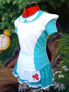 Alice in Wonderland inspired running skirt by iGlowRunning on Etsy, $55.00