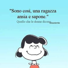 Una ragazza #ansia e sapone #lucy