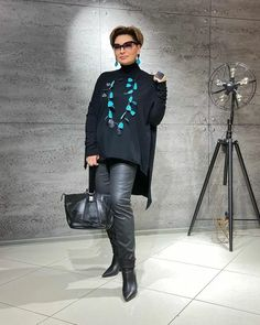 Curvy Fashion, Plus Size Fashion, Boho Fashion, Winter Fashion, Fashion Looks, Fashion Outfits, Over 60 Fashion, Over 50 Womens Fashion, Clothes For Women Over 50