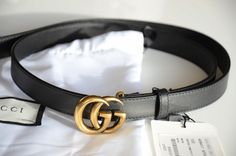 8829aaab46b Auth Gucci MINI GG Gold Buckle Black MARMONT Belt size 80 32 fits 26-