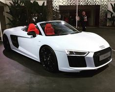 Red interior with black on white new R8 Spyder