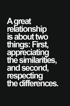 There are many definitions for respect when you add understanding and love.
