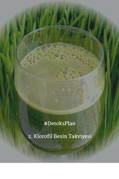 Klorofil yeşil sebzelerde bulunan bir pigmenttir. Ispanak ve yeşil çay en iyi klorofil kaynaklarıdır. Kansızlık varsa, sigara içiyorsanız ve çevre kirliliğine fazlaca maruz kalıyor fakat sağlıklı beslenemiyorsanız, eczanelerde satılan klorofil takviyeleri de vücudunuza iyi gelir. #DetoksPlan