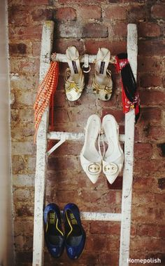 Clever shoe storage  (via @Homepolish)