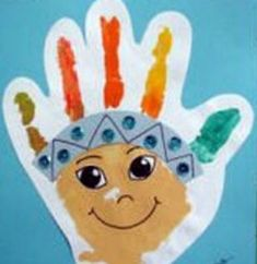 - Native American crafts for kids Why Do We Say Red Indıan to Native Americans? There is a little red Indian who name is Moonlight. This little red Indian is so curious she asks everything. Thanksgiving Preschool, Thanksgiving Crafts For Kids, Fall Crafts, November Crafts, Footprint Crafts, Native American Crafts, Indian Crafts, Handprint Art, Cowboys And Indians