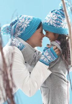 snowflake hat and mittens