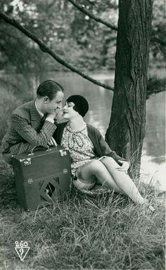 Music & Romance ~ 1920's Biederer Postcard