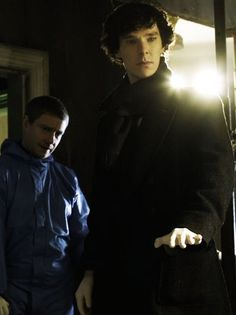 Looks like John is checking out Sherlock! Lmao