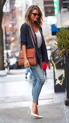 Fashion and style tips to steal from tall girls like Chrissy Teigen: Find basics that fit.