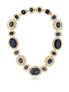60% OFF Kenneth Jay Lane Sapphire & Crystal Fancy Necklace