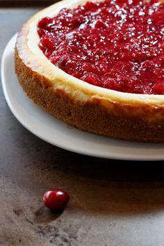 Lemon Cheesecake with a Cranberry Raspberry Compote  |  Lemon & Mocha