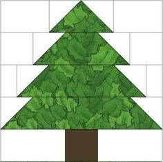 """10"""" Christmas Tree Quilt Block Pattern: About the Christmas Tree Quilt Block Pattern"""