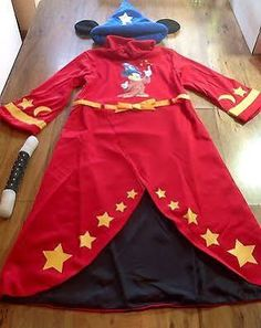 Euro Disney Fantasia Mickey Mouse Sorcerer Wizard Costume Child S 5