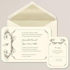 Feathered Elegance Wedding Invitation | #exclusivelyweddings | #weddinginvitations
