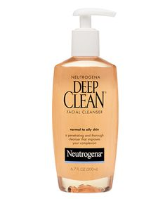 oily skin cleanser | Deep Clean Facial Cleanser works two ways to improve the look and feel ...