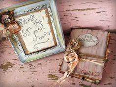 Rustic Guest Book Wedding Bird's Nest Custom 8 1/2 x 11. $150.00, via Etsy.