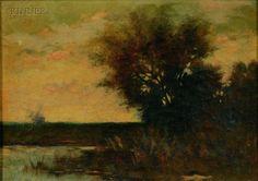 """Twilight,"" Arthur Hoeber, oil on canvas, 10 x 14"", private collection."