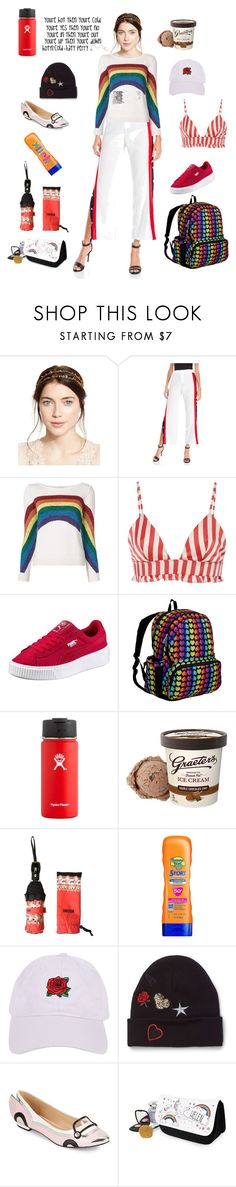 """""""You're hot then you're cold"""" by alexxa-b ❤ liked on Polyvore featuring Jennifer Behr, Hot & Delicious, Marc Jacobs, Morgan Lane, Wildkin, Hydro Flask, Banana Boat, Armitage Avenue, Miss Selfridge and hot"""