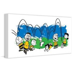 Marmont Hill Ball in Air Peanuts Print on Canvas, Size: 24 inch x 12 inch, Multicolor
