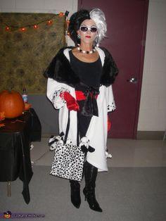 Creative Homemade Costumes | Helen as Cruella. Cruella Deville - Homemade costumes for women