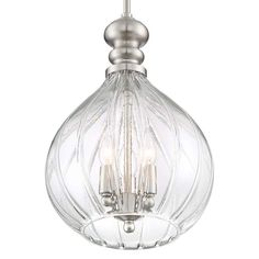 "Houten 11 1/2""W Brushed Nickel 3-Light Cluster Mini Pendant - #45A83 