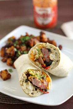 Everything but the kitchen sink breakfast burrito and Mexican home fries