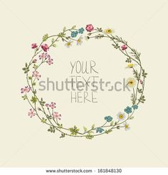Floral Wreath for a tattoo (my obvious obsession now)