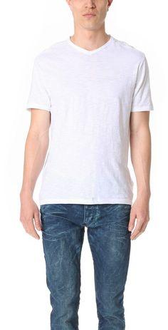 Calvin Klein Jeans Mixed Media V Neck Tee