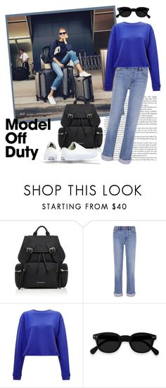 """""""Karlie Kloss: A Traveling Model ..."""" by krusie ❤ liked on Polyvore featuring Burberry, Tory Burch, Miss Selfridge and Converse"""