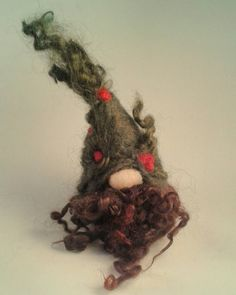 Needle Felted Forest Gnome Ornament. Tomte. Swedish Gnome Decoration. by FeltbyLisa on Etsy