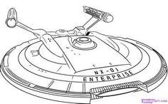 Star Trek Enterprise NX-01 embroidery pattern inspiration