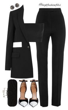 Women's Work Fashion Looks Chic, Looks Style, Womens Fashion For Work, Work Fashion, Women's Fashion, Fashion Women, Polyvore Outfits, Polyvore Fashion, Classy Outfits