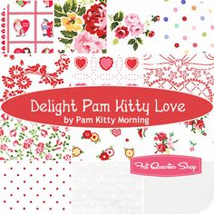 Delight Pam Kitty Love Fat Quarter Bundle Pam Kitty Morning for Lakehouse Dry Goods - Fat Quarter Shop