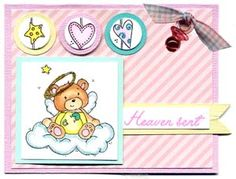 Heaven Sent  Card & DIY Directions from GreatImpressionsStamps.com