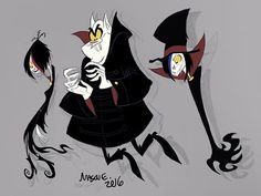 Vampire Teens Repost - - - other than giving the vampiress a waistband as well as some trappings on her sleeves; it's practically the same as it was - - - Vampire Bride, Count Dracula, Cartoon Monsters, Goth Girls, Creepy, Cool Art, Gothic, Character Design, Artsy