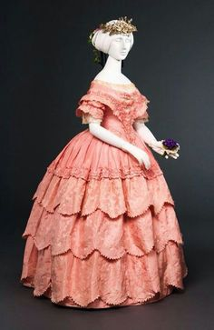 Mid 19th century evening gown