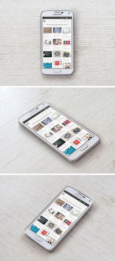 Samsung Galaxy S5 PSD MockUp | GraphicBurger