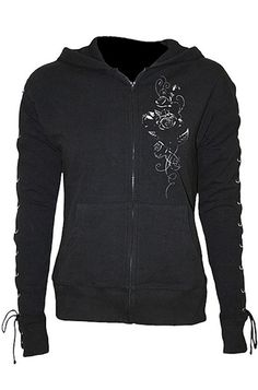 Spiral - Entwined Lace-Up Glitter Hoody