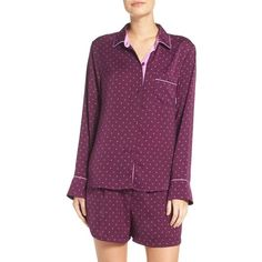 Women's Dkny Short Pajamas (750 NOK) ❤ liked on Polyvore featuring intimates, sleepwear, pajamas, black plum geo, short pyjamas, dkny pajamas, short pajamas, dkny and short sleepwear