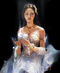 for mobile action rpg, Dark Avenger 3 Nexon co. 3d Fantasy, Fantasy Women, Medieval Fantasy, Fantasy Girl, Fantasy Artwork, Fantasy Heroes, Fantasy Portraits, Character Portraits, Character Art