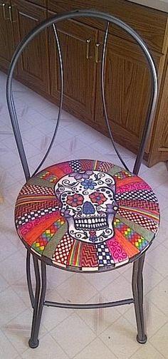 Sugar Skull chair | Other Ideas | Project on Craftsy: Sugar Skull Chair
