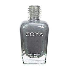 Zoya Nail Polish in Tao - A light smoke grey with blue undertones and a muted, softened metallic finish
