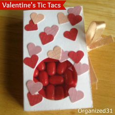 This Valentine is cute, cheap, and easy enough to make with the kids. Check out these Valentine's Day Tic Tacs