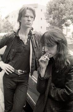 Campbells Loft  //    Writer Jim Carroll & Patti smith.    1979.  (LIFE)