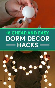 18 Surprisingly Useful Dorm Decorating Hacks