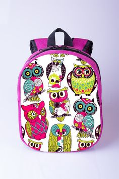 Stephen Joseph Girls Sidekick Owl Backpack, Lunch Pal and Zipper ...