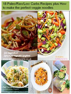 Get Inspiralizer: How to make the perfect veggie noodles for Paleo,Raw and Low Carb Diets plus 18 recipes
