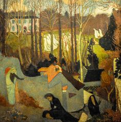 Easter Mystery, 1891 by Maurice Denis on Curiator, the world's biggest collaborative art collection. Maurice Denis, Pierre Bonnard, Edouard Vuillard, Paul Gauguin, Art Français, Avant Garde Artists, Post Impressionism, Collaborative Art, Oil Painting Reproductions
