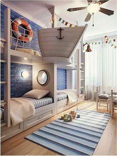 Комната для будущего путешественника. Стиль Морской