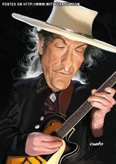 Caricaturas by Daniel Alho / Bob Dylan